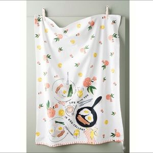 Anthropologie  Eggcellent Dish Towel NWT